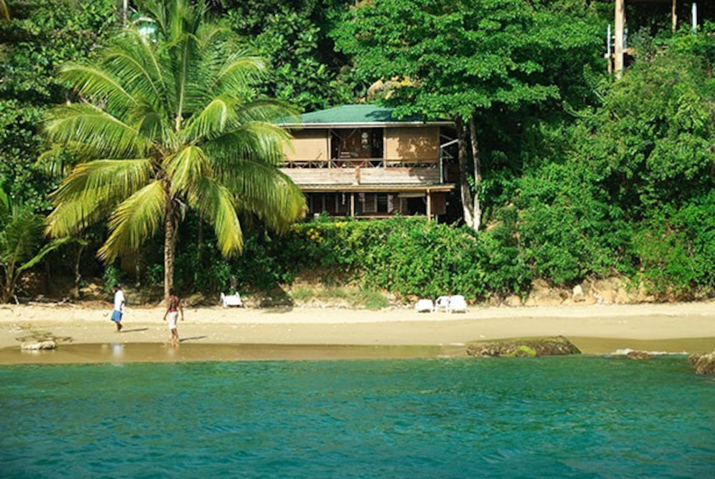 Front of Beach House from the sea