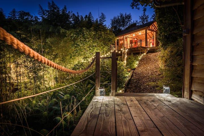 Expérience insolite cabanes en pleine nature 4p.