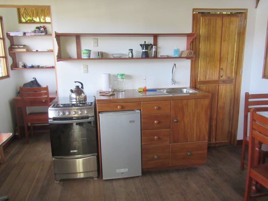 Small handbuilt kitchen