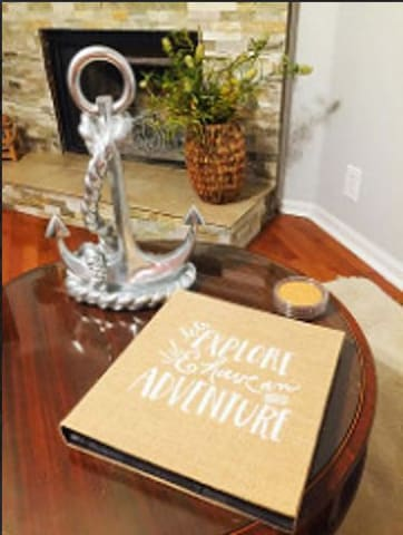 Living room and guest book