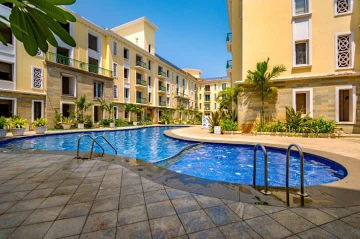 WFH 2 bhk with Lease Line  Walkable Baga Beach