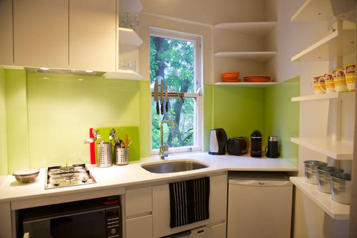 Fully equipped kitchen with Nespresso coffee machine