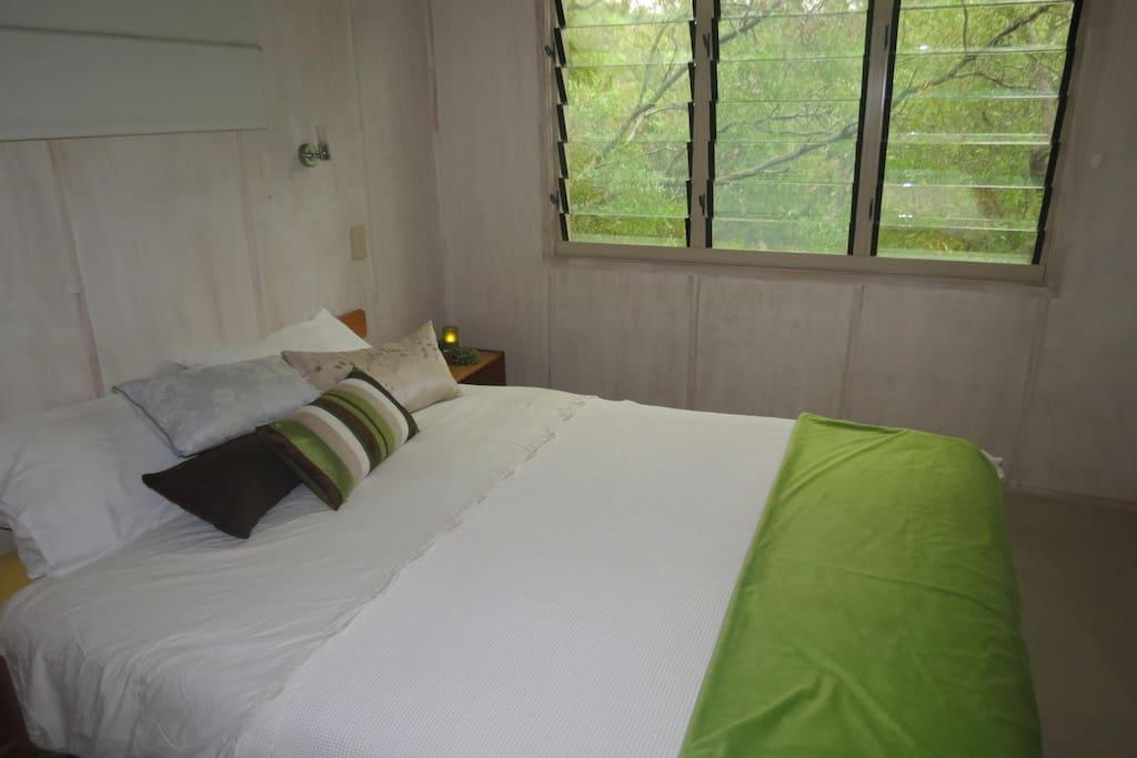 Main bedroom overlooking rainforrest
