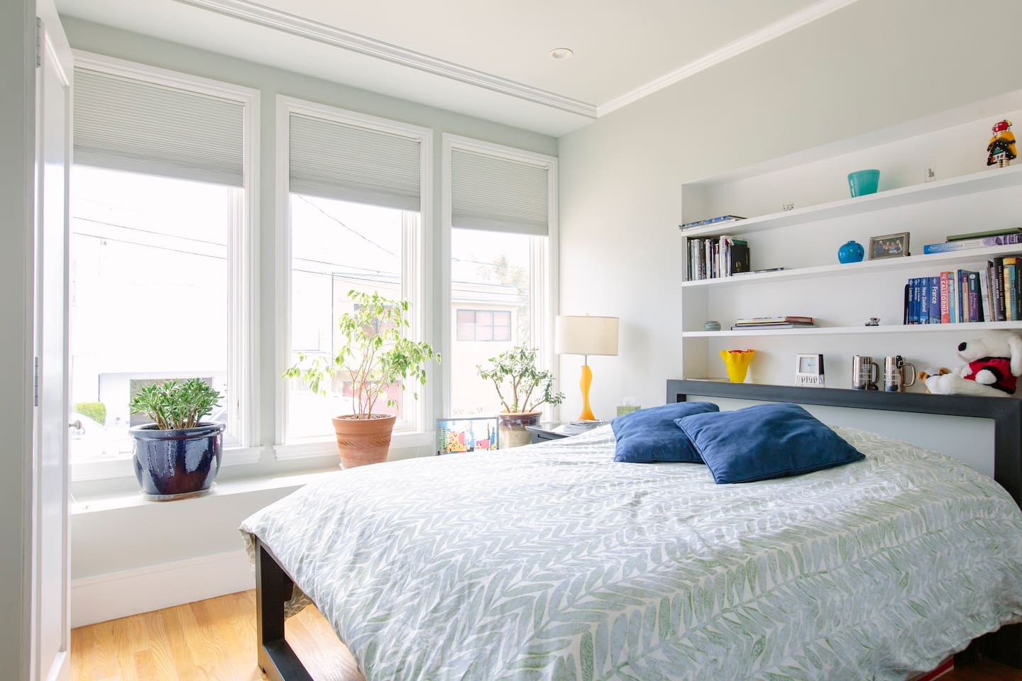 Your bedroom. Bright and sunny.