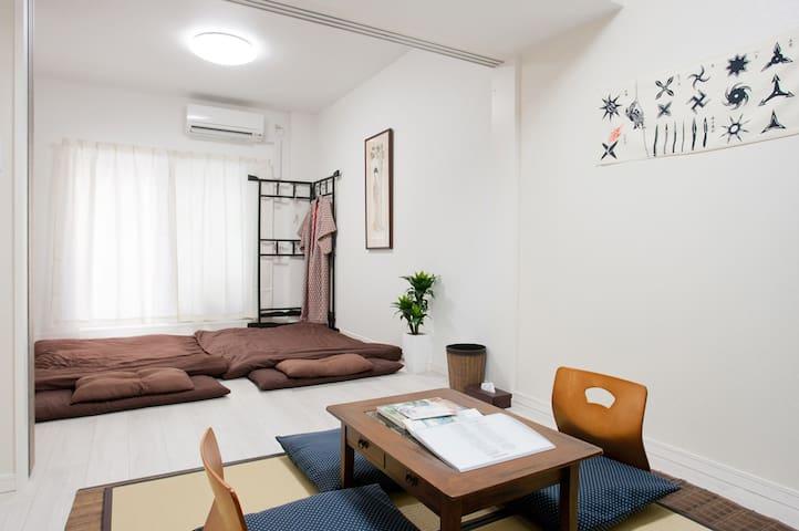 Osaka sta3min12beds 70m²2rooms fastwifi namba10min - Nishi-ku, Ōsaka-shi - Departamento