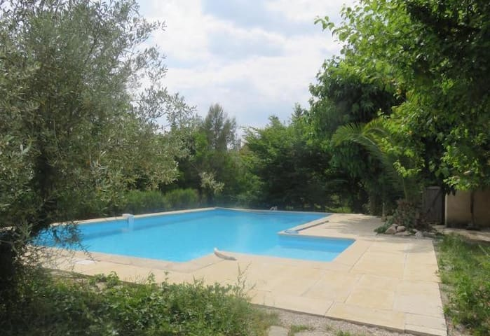 Beautiful provencal house with pool in a park