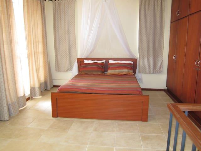 bedroom on mezzanine level