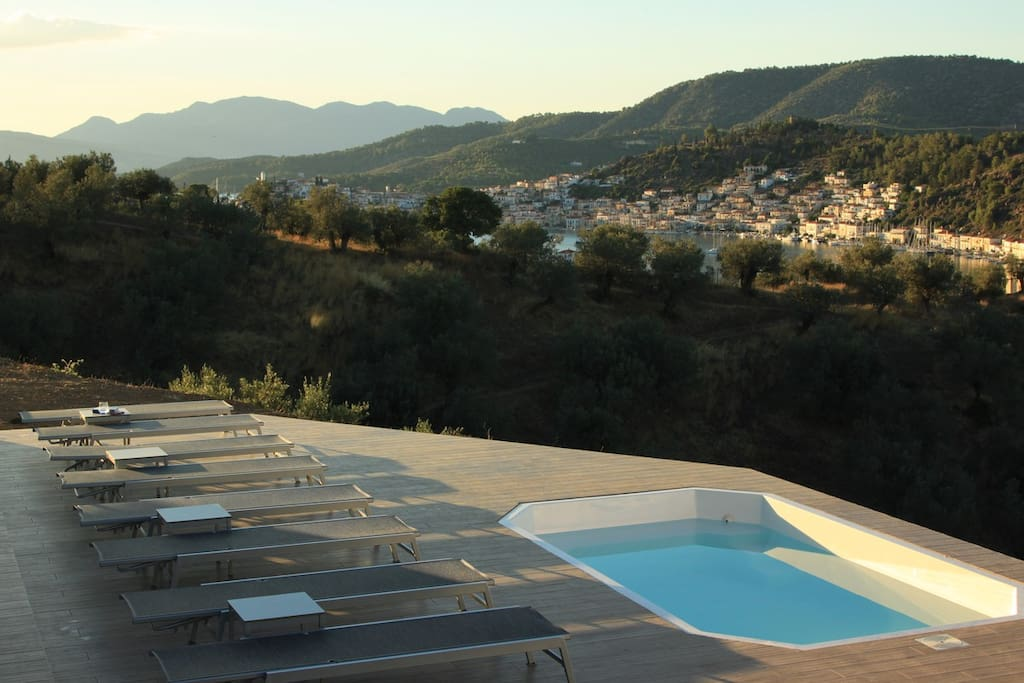 Our recently added feature: large deck and a plunge pool! Perfect for cooling off and sunset watching :-)