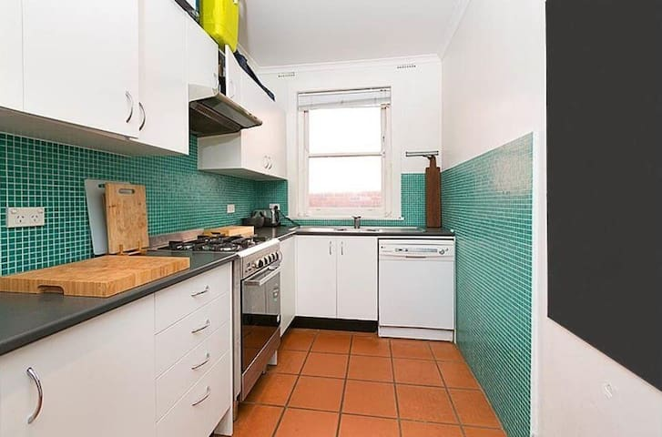 Fully Renovated Kitchen - Gas Stovetop, Washing Machine, Barista Style Espresso Machine and Microwave.