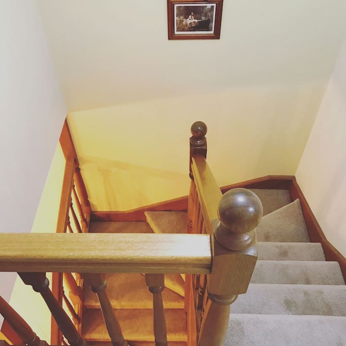 Stairs, all the bedrooms are upstairs.