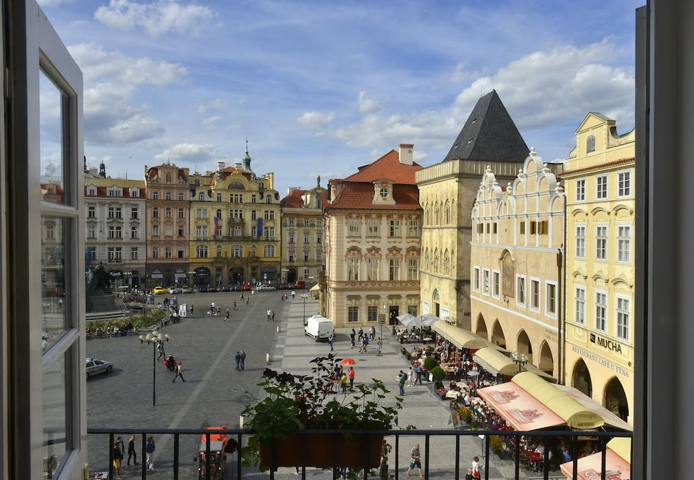 view on the Old Town Square in Prague