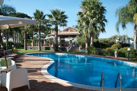 Loft in Villa with pool