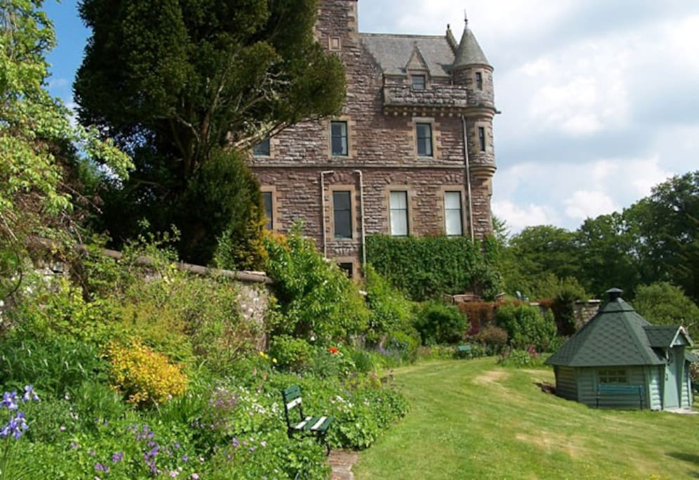 West facade of castle