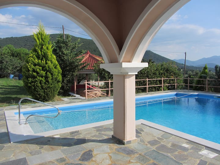 Villa Saint Nicolas, pool, Péloponnèse