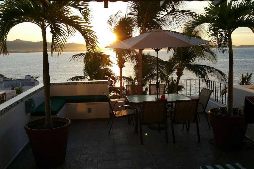 Enjoy a beautiful sunset from the huge terrace from the unit