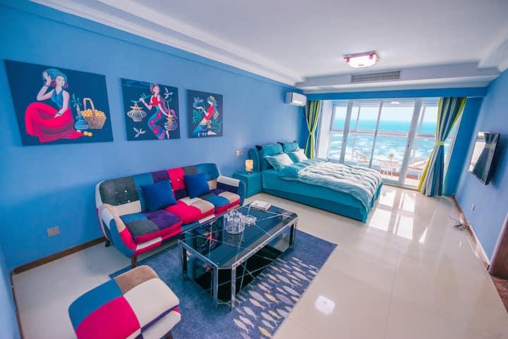 烟台金沙滩海景现代风格宜4~5人两居室