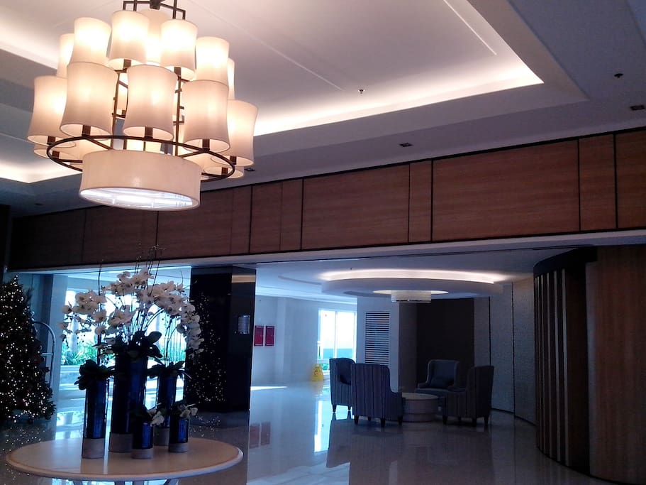 airconditioned reception and lobby