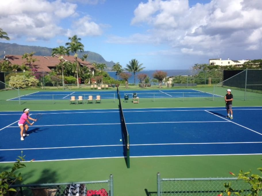 Tennis with ocean Views