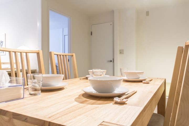 Dining table for meals or planning your day
