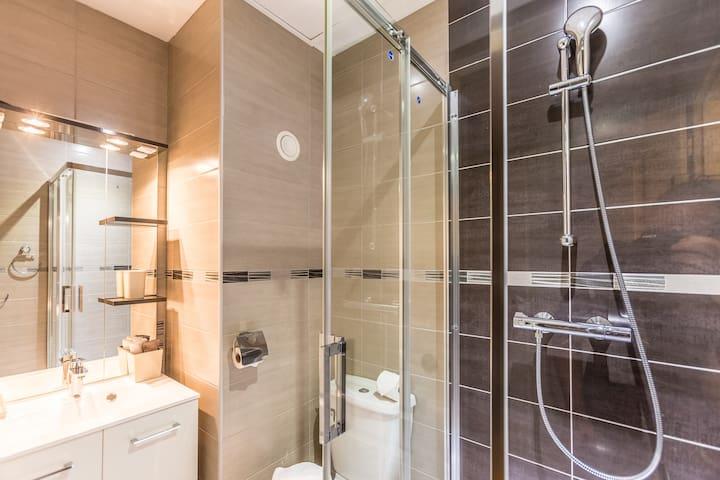 salle de bain plumes