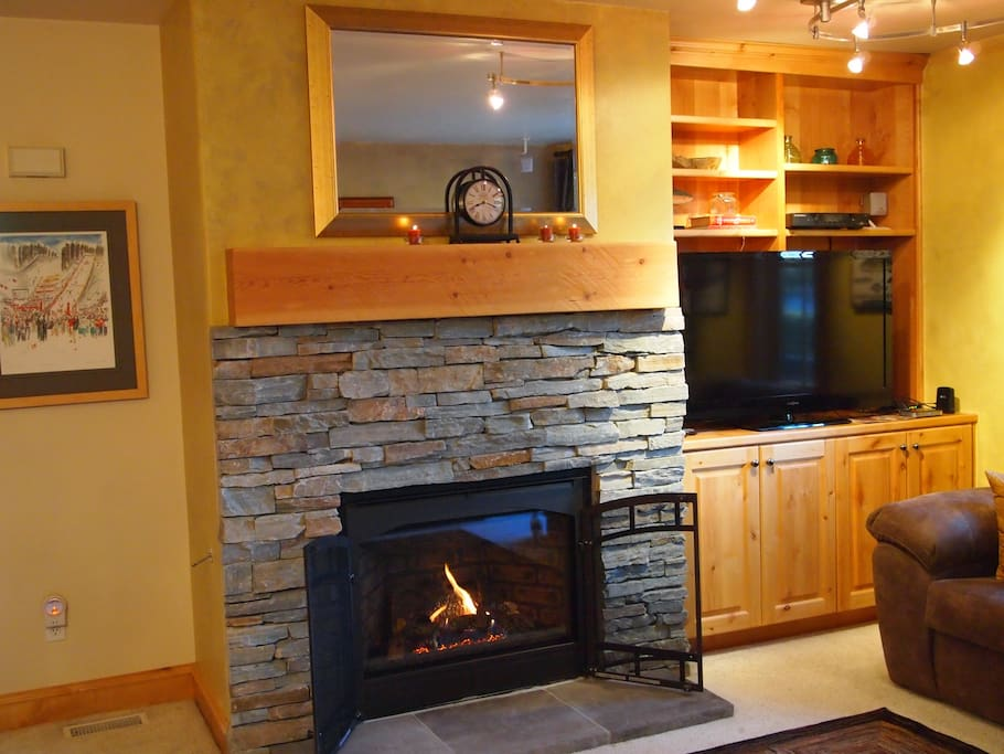 New Gas Fireplace and Entertainment Center