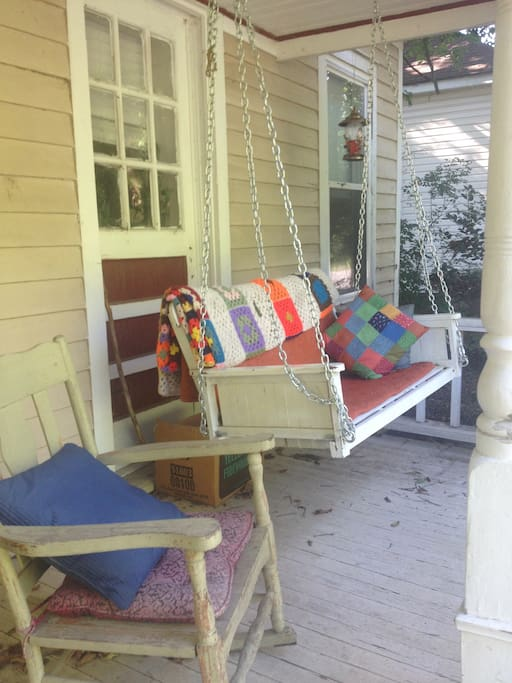 Watch the hummingbirds from the porch swing or enjoy a nice beverage on the rocking chair.