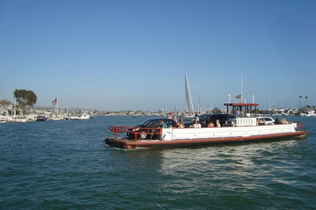 Ferry that takes you from Balboa Island to Balboa Peninsula only 2 blocks away.