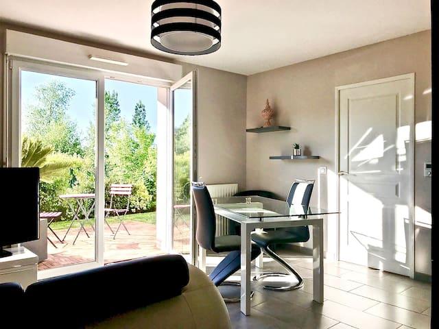 Appart NEUF & JARDIN 2km Caen & plages - classé 3*