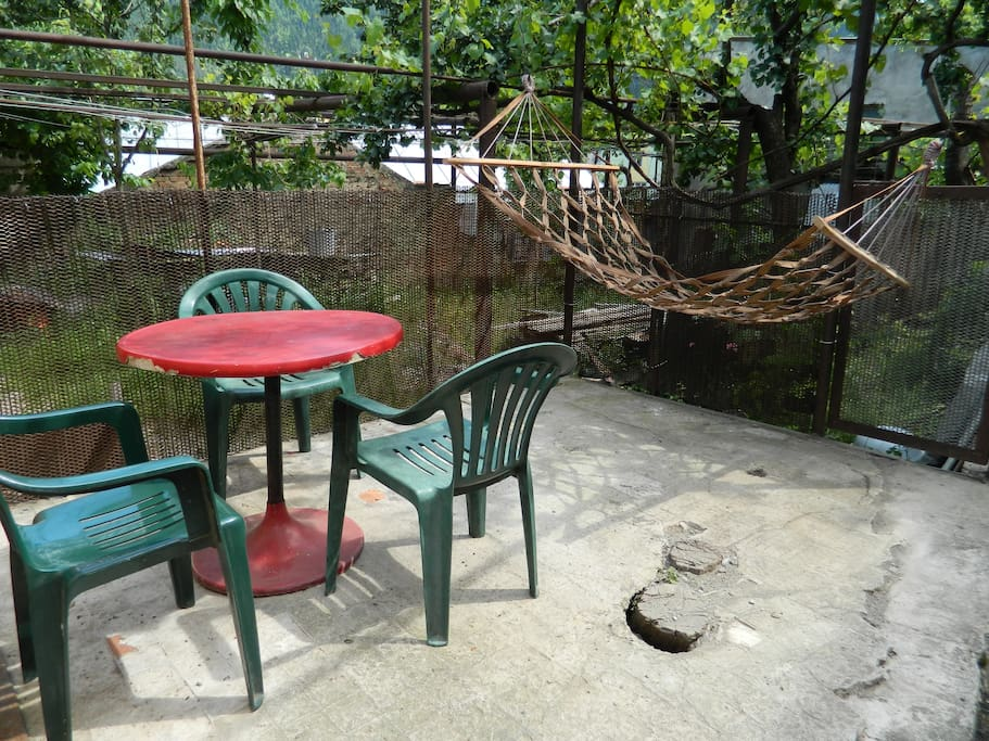 a relaxing out side area for the hot summer days