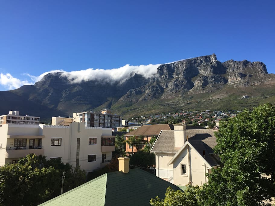 Ever changing view of Table Mountain, I love watching the cloud filter over the mountain