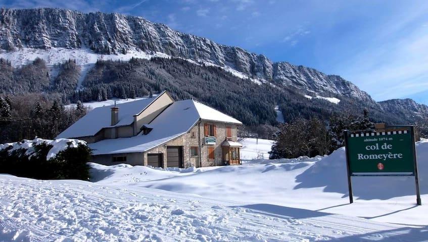 Maison au pieds des pistes au Col de Romeyère