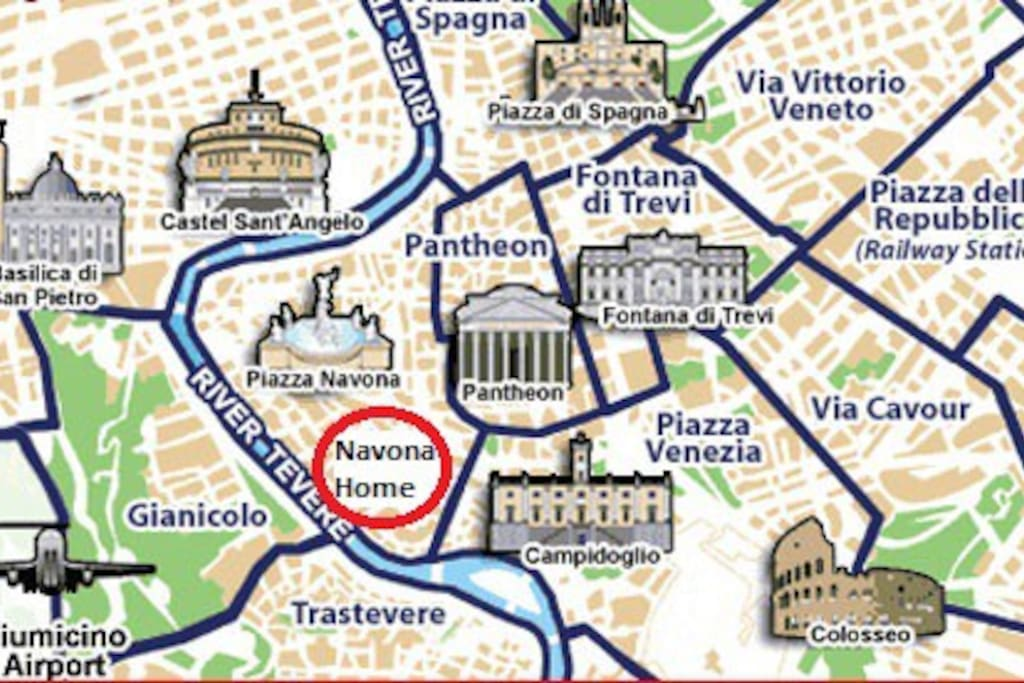 Visit all Rome without public transports