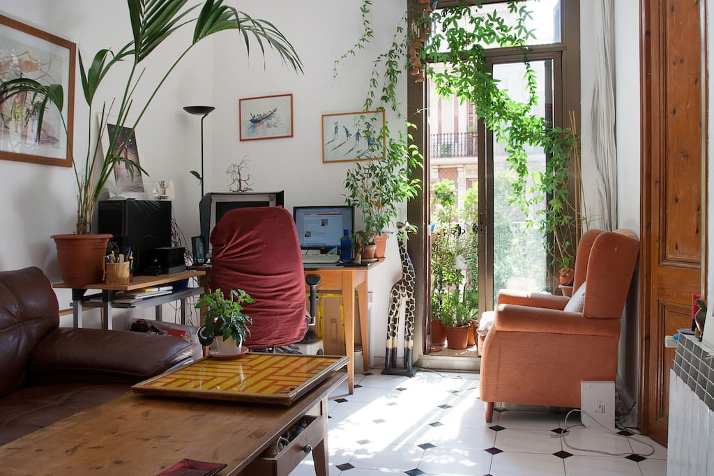 The (jungle style) living room