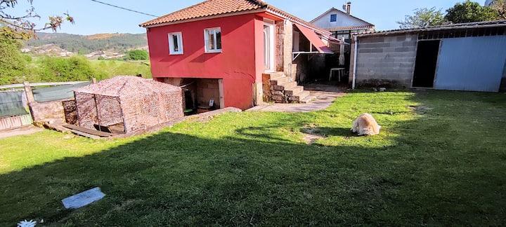 Casa con finca y piscina a 10 km de Pontevedra