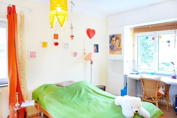 Zimmer hell ruhig grün nah zur Uni - Heidelberg - Haus