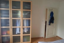 Bedroom with wardrobe.