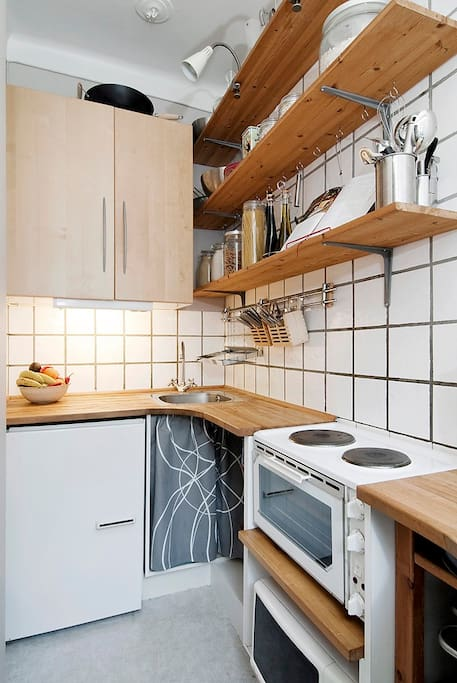 Separat and functional kitchen