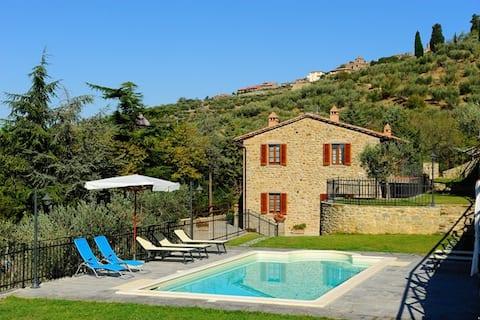 Panoramic Country House in Cortona