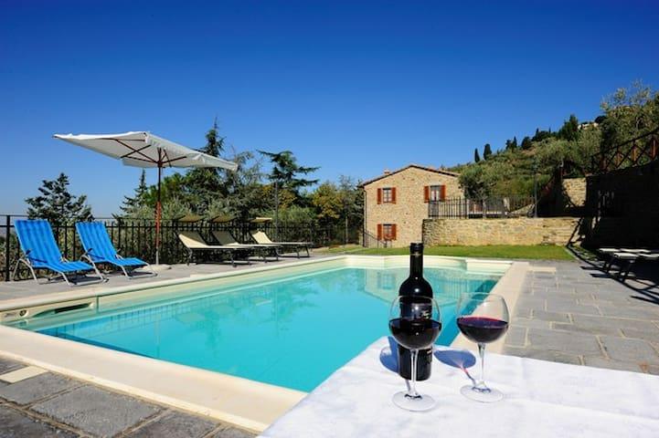 Una bellissima veduta della piscina...e un'idea per un aperitivo al tramonto
