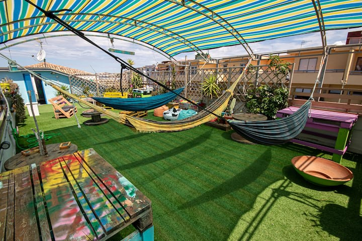 Affascinante posto amaca in terrazza (hammock bed)
