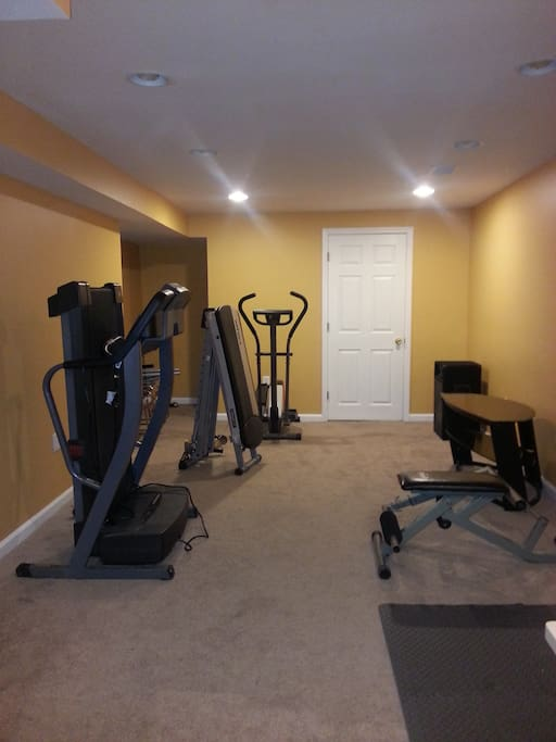 A place where you can work out, before you begin the day