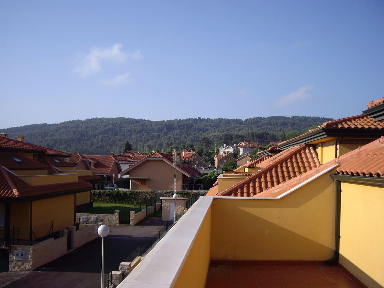 Vistas desde la terraza de la segunda planta