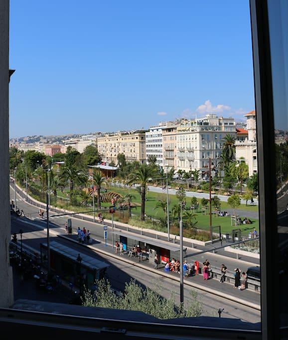 La vue de l'appartement