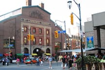 The amazing St. Lawrence Market is just five minutes away!