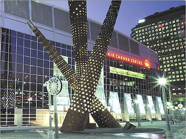 Enjoy world-class venues like Toronto's Air Canada Center for music and sport!