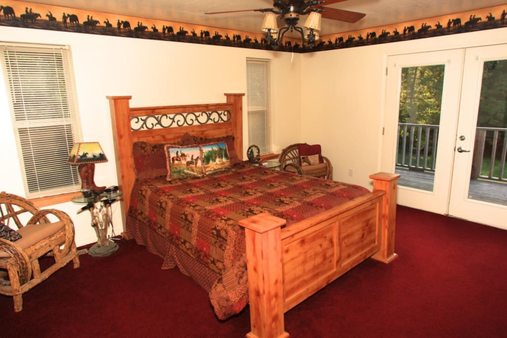 Master bedroom. Queen size bed. Located upstairs