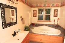 Master bath with includes garden tub. Not pictured: Toilet and shower but are in the bathroom