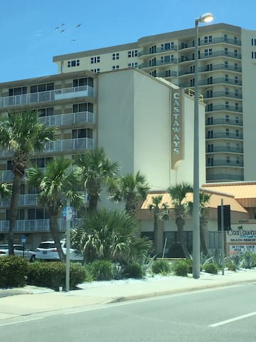 Beach front condo. Steps from the beach and pool.