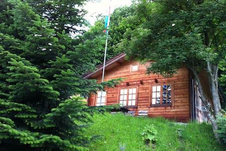 Idyllische Blockhütte in der Natur - Altstätten