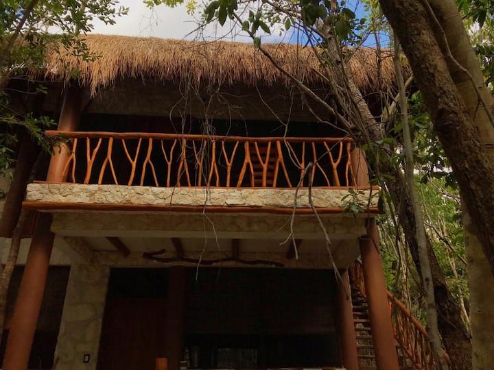 Cabaña Akbal con cenotes exclusivos